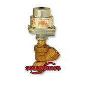 Pressure Actuated Angle Seat Piston Brass Valve